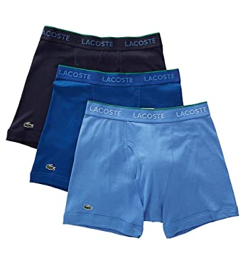 0efbce0793a9 Lacoste Essentials Cotton Classic Boxer Briefs - 3 Pack (RAME103) S Navy