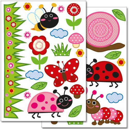 Wandkings wall stickers Creepy Crawly Sticker Set – 35 stickers on 2 US letter sheets (each 8.3 x 11.7 inch)