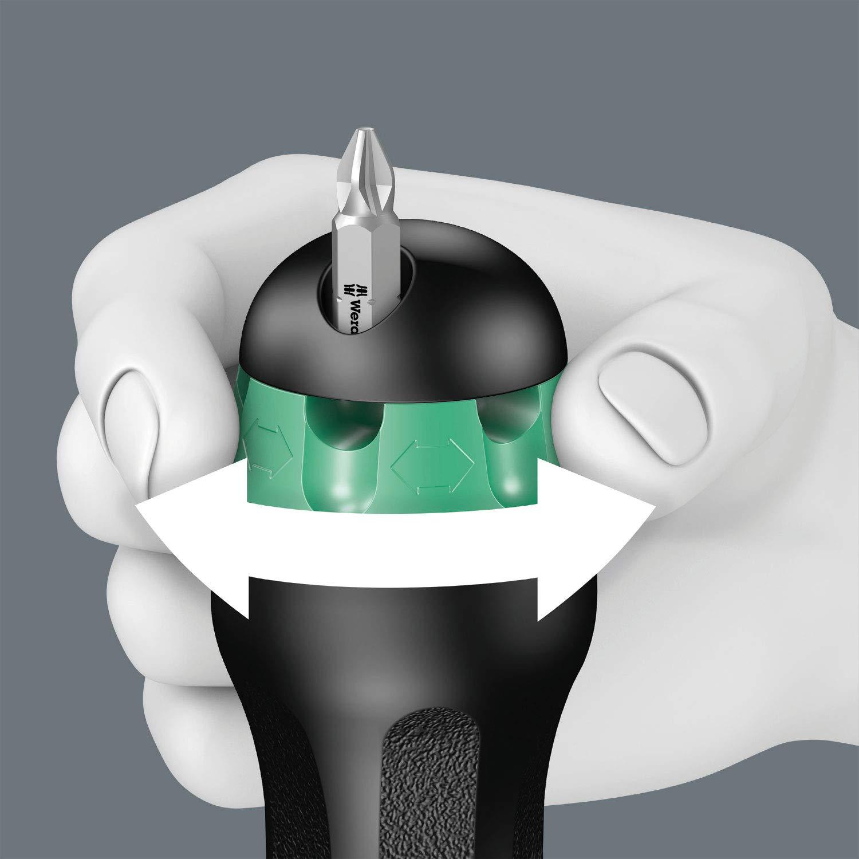 Wera 05051610001 Kraftform 819//1 Hexagon Combination Screwdriver 120mmBlade Length 1//4 Head Strong Permanent Magnet No Bits