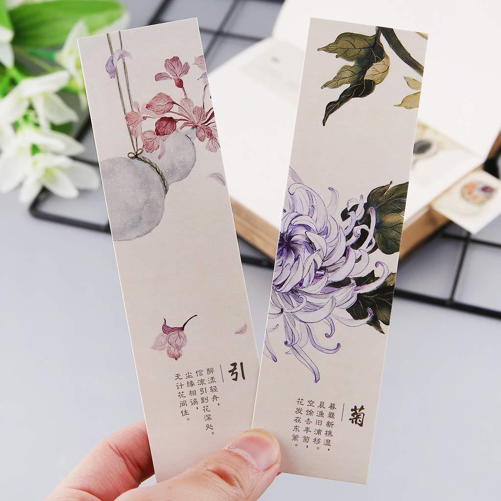 style r/étro Huwaioury Lot de 30 marque-pages cr/éatifs en papier de style chinois
