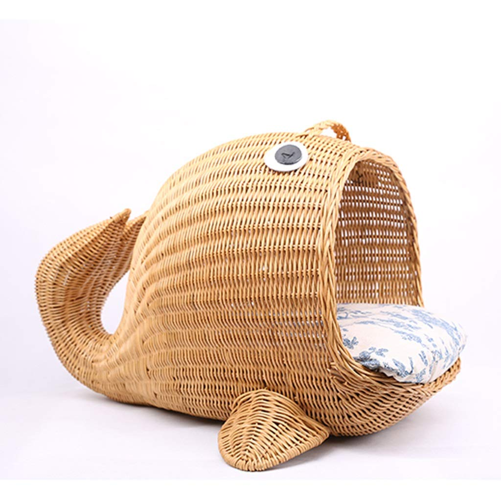 JIANXIN Pet Nest, Rattan Cat Nest, Kennel, Suitable of Cats and Small Dogs, Four Seasons Universal