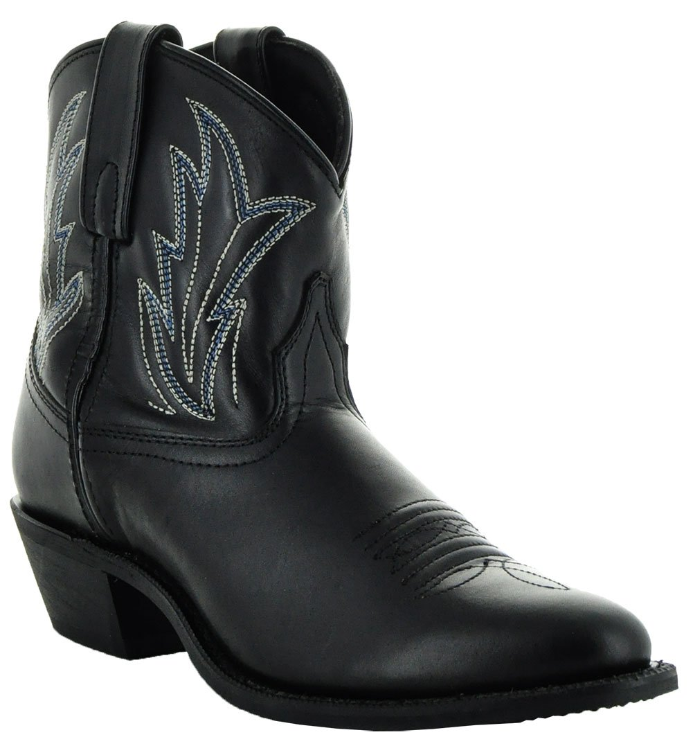 Soto Boots Janis Women's Ankle Cowboy Boots by M3003 B075G142MR 9 B(M) US|Black