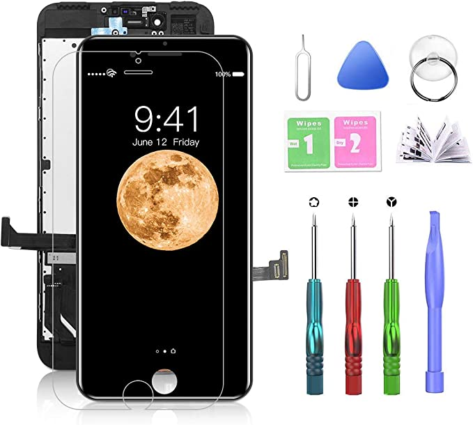 Passion Black iPhone 7 Plus 5.5 inch Screen Replacement Kit LCD Screen Tools Included 7 Plus Black
