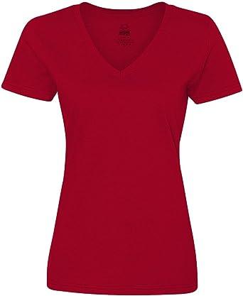 Fruit of the Loom 5 oz. 100% Heavy Cotton HD V-Neck T-Shirt (L39VR)