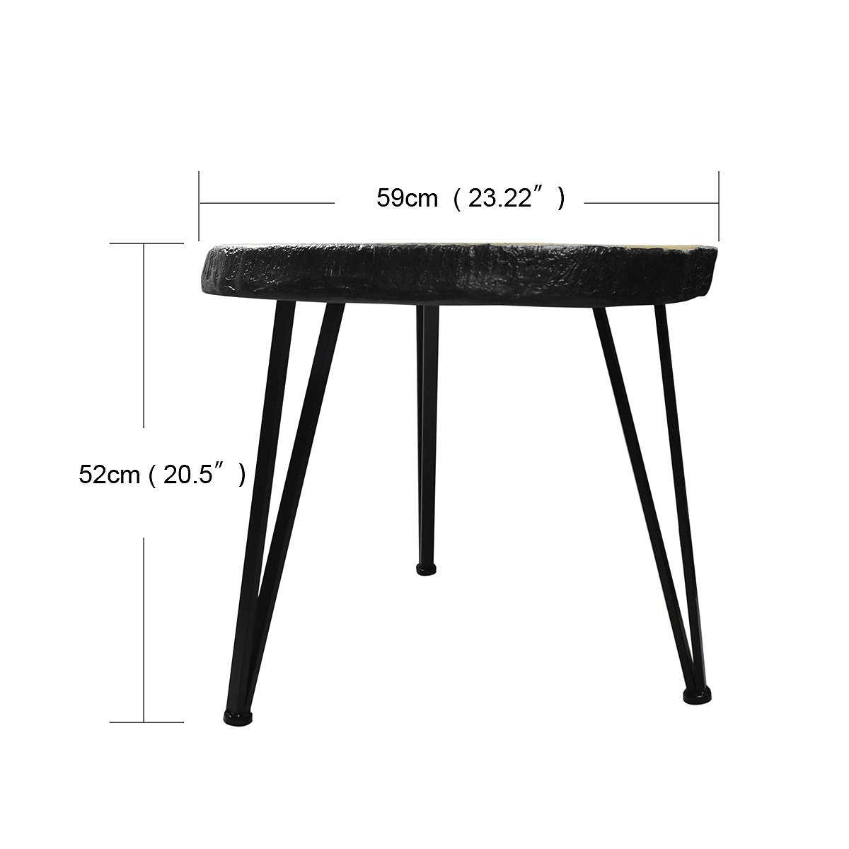 Suneon End Tables, Imitation Wood(Magnesium Oxide) Coffee Side Table for Living Room,Bedroom,Balcony,Garden and Office by SUNEON (Image #2)