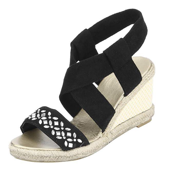 fb697e72 Sandalias Cuñas Mujer para Vestir Verano 2019 Zapatos Tacón con Plataforma  Tacones Altos Sexy 5.5 Cm Sandalias de Plataforma con Punta Abierta Tallas  ...