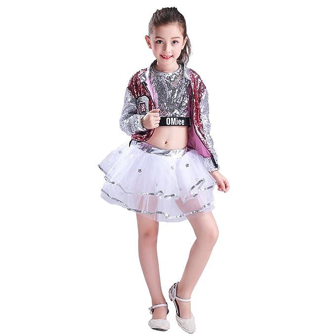 4de95d091 LOLANTA Girls Paillette Glitter Dancewear Hip Hop Jazz Sequin Dance ...