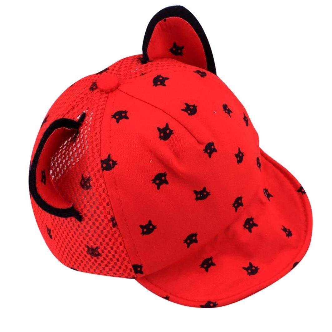 Voberry Toddler Baby Kids Boys Girls Cat Ears Baseball Hat Peak Cap Sun Hat YJJ60427381BK_QMJ