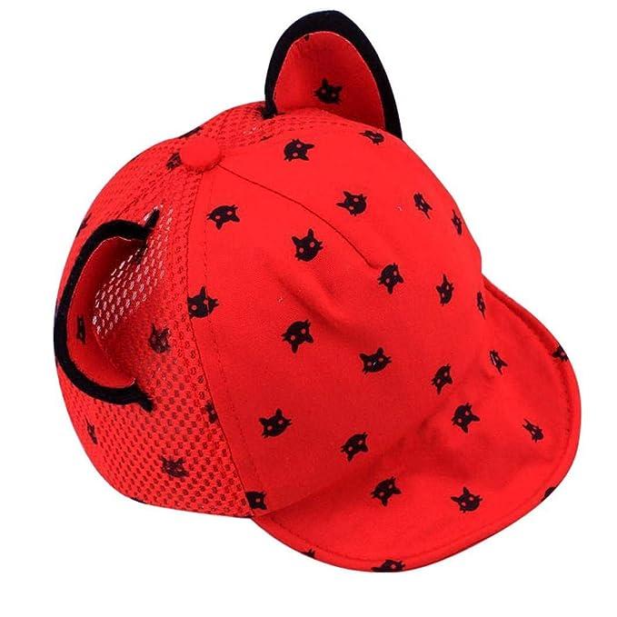 Voberry Toddler Baby Kids Boys Girls Cat Ears Baseball Hat Peak Cap Sun Hat
