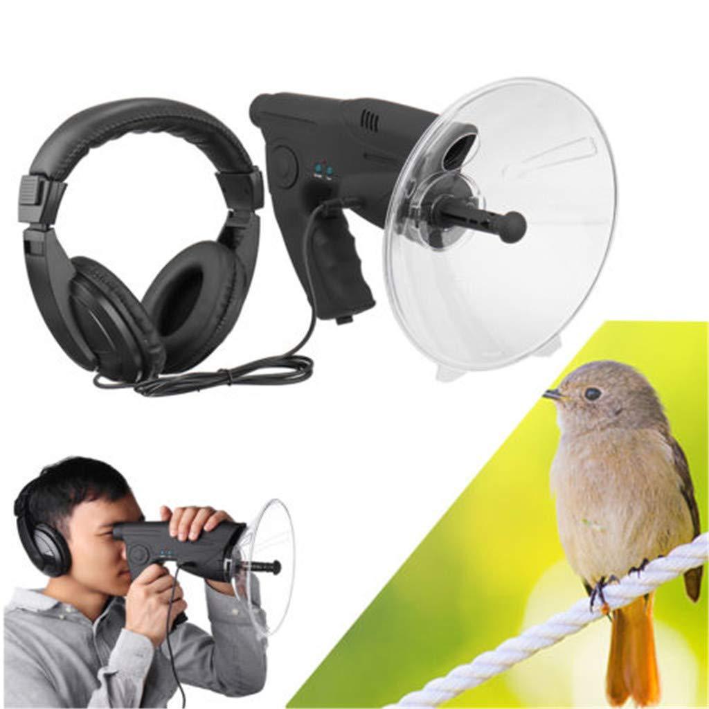 vmree Bird Listening and Recording Device 100m Long Range, Outdoor Bionic Telescope Binoculars Parabolic Microphone Monocular X8, Wildlife Bird Observing Equipment with Headphones by vmree