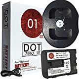 DOT-01 Brand 1700 mAh Replacement Canon NB-2L Battery and Dual Slot USB Charger for Canon Rebel XTI Digital SLR Camera and Canon NB2L
