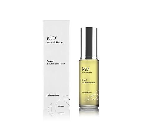 MD3 Anti envejecimiento Retinol (2%) Suero con Multi-Vitaminas | 30ml | Para la piel ...
