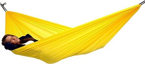 traveller lite lightweight camping hammock parachute polyester hammock yellow amazon     traveller lite lightweight camping hammock      rh   amazon