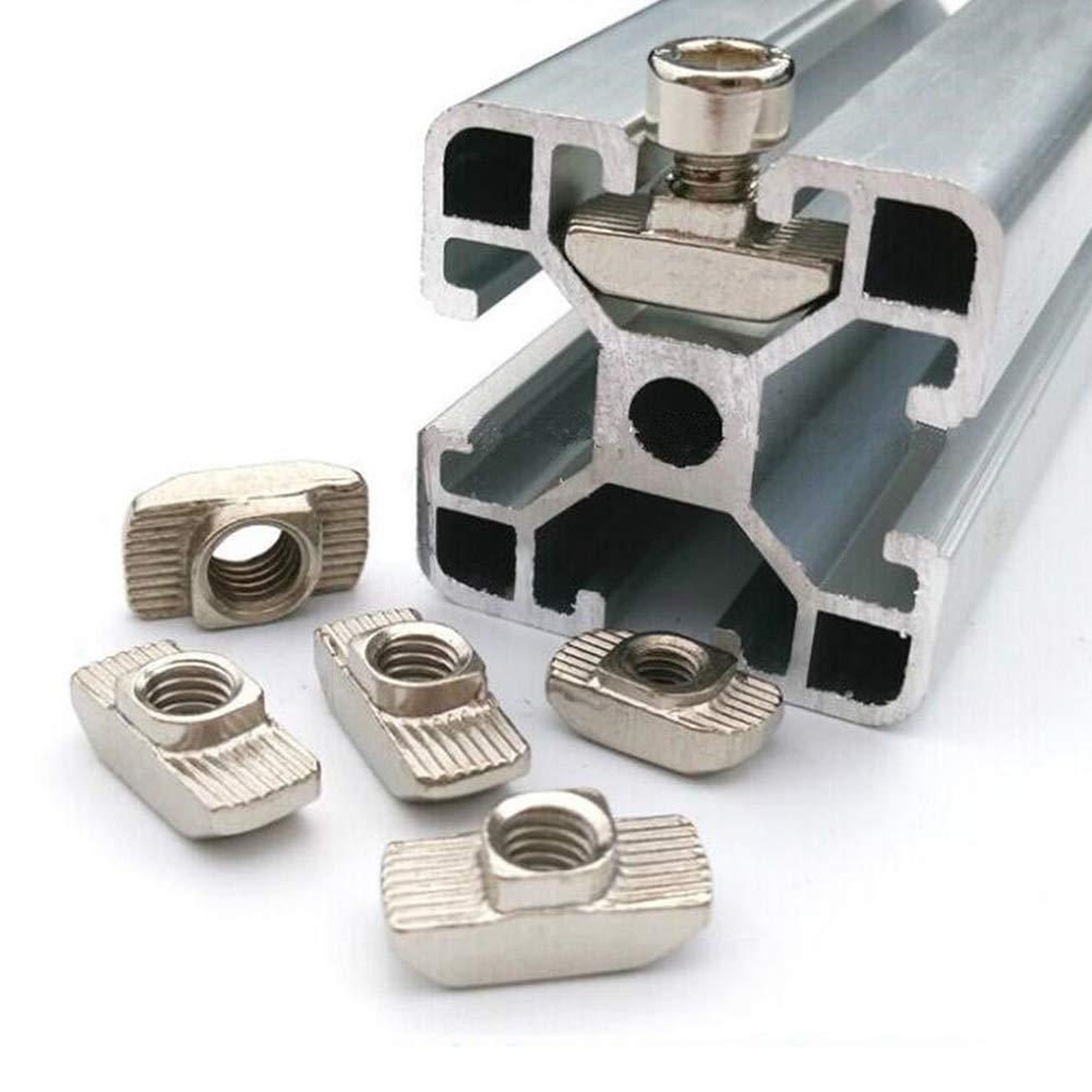 M3 vap26 T-muttern 20 Teile//Satz M3 M4 M5 F/ür 3D Drucker Kohlenstoffstahl EU Standard Aluminium Profil T-Slot Stecker Befestigen Schiebe Innen Industrie 20 Serie Extrusion Block M5