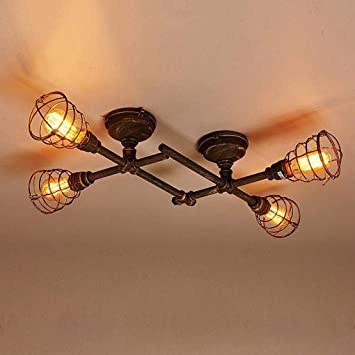 I-Light-U Cubierta Loft Lámpara industrial retro de la lámpara de ...