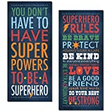 Superhero Rules Set by Stephanie Marrott; Two 8'x18' Prints