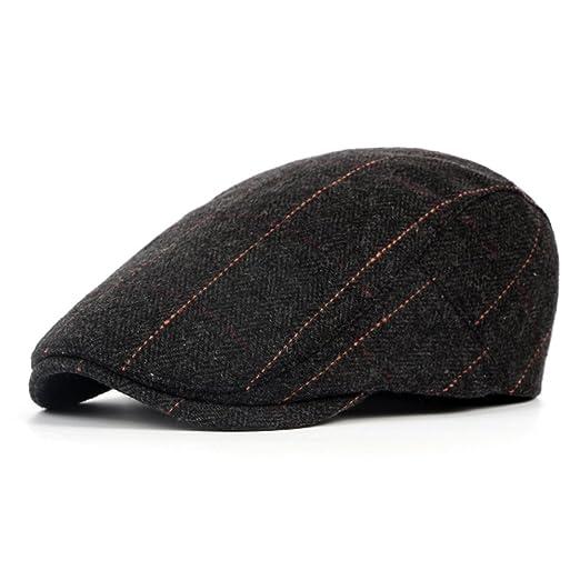 e3a59d95ed9ab Idopy Men`s Classic Adjustable Ivy Irish Newsboy Golf Cap Hat (573 Black)