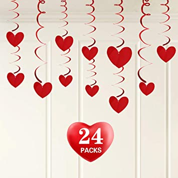 Valentines Day Decorations Valentine Hanging Heart Swirl Decoration For Ceiling Great For Anniversary