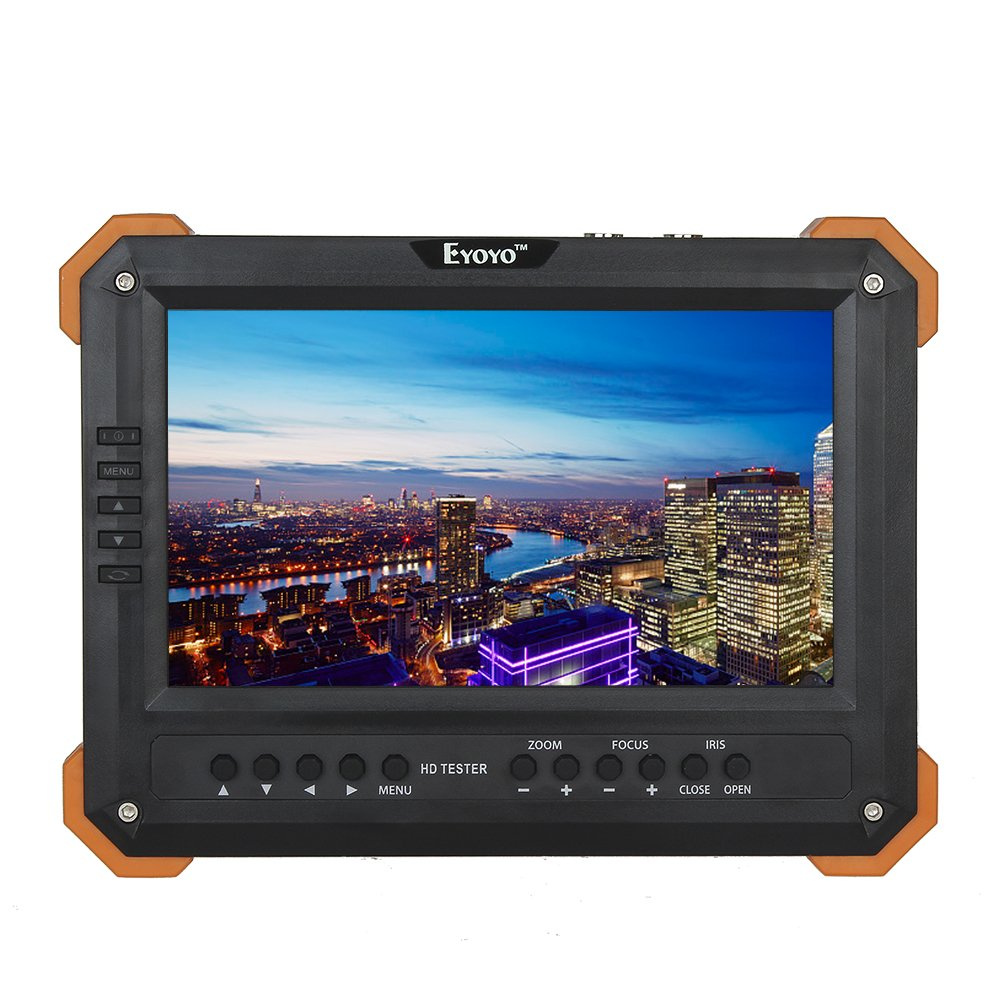 Seesii Eyoyo X41T 7'' TFT LCD Monitor HD-TVI+HDMI+VGA+CVBS Camera Video Test Tester 12V-Out by Seesii