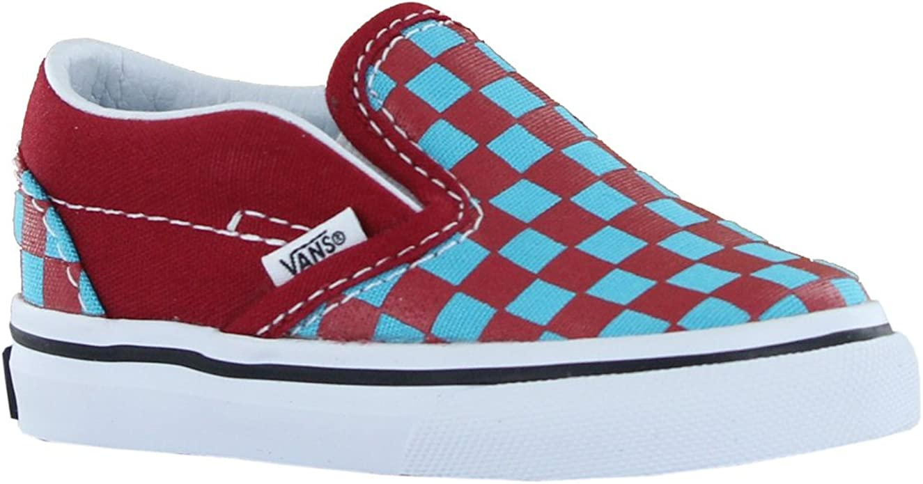 Vans Classic CheckerBoard Slip On Red