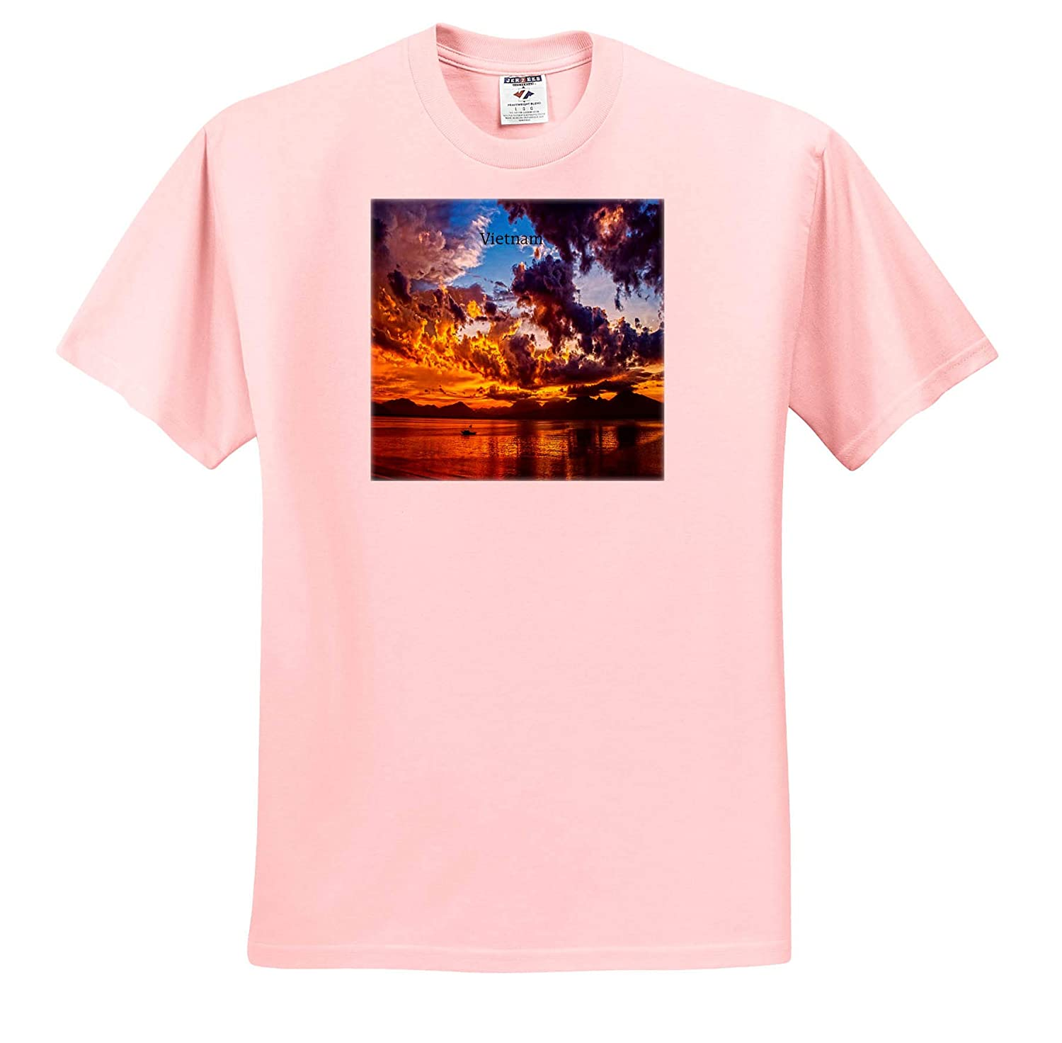 Worlds Exotic Places T-Shirts Image of Gorgeous Sunset Over Da Nang Vietnam 3dRose Lens Art by Florene