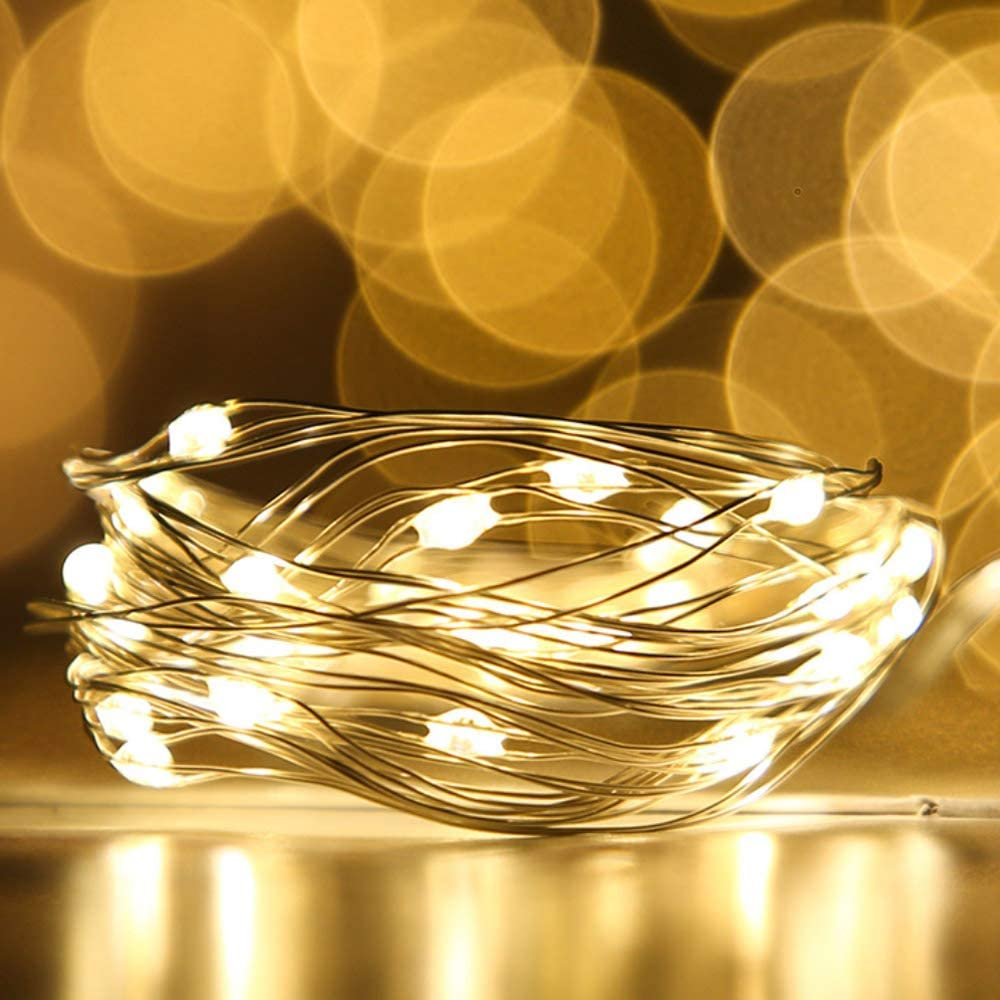 6//12 Pack 2M 20LEDs Battery Operated LED Copper Wire String Xmas Fairy Lights US