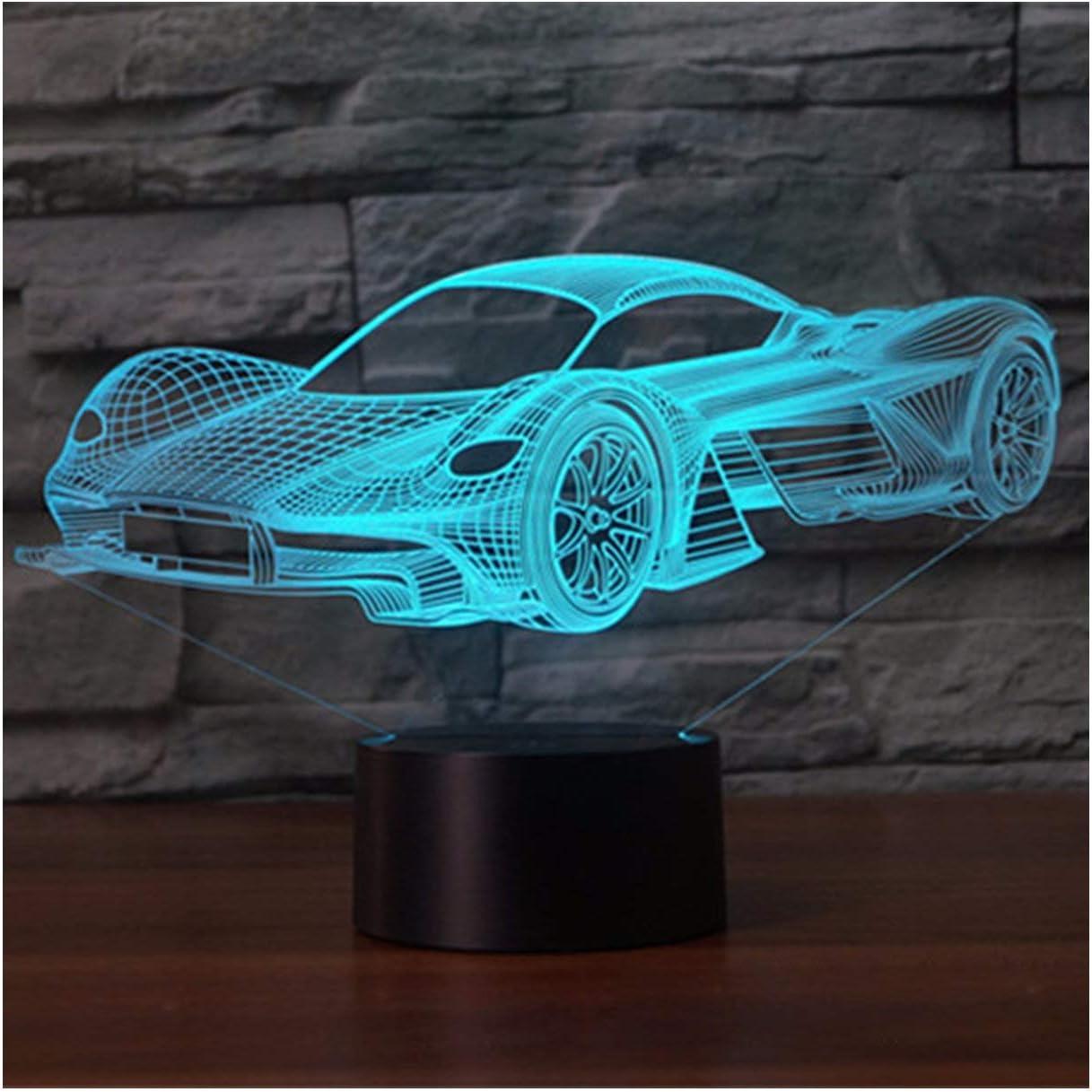 3D Lámpara óptico Illusions Luz Nocturna, EASEHOME LED Lámpara de ...
