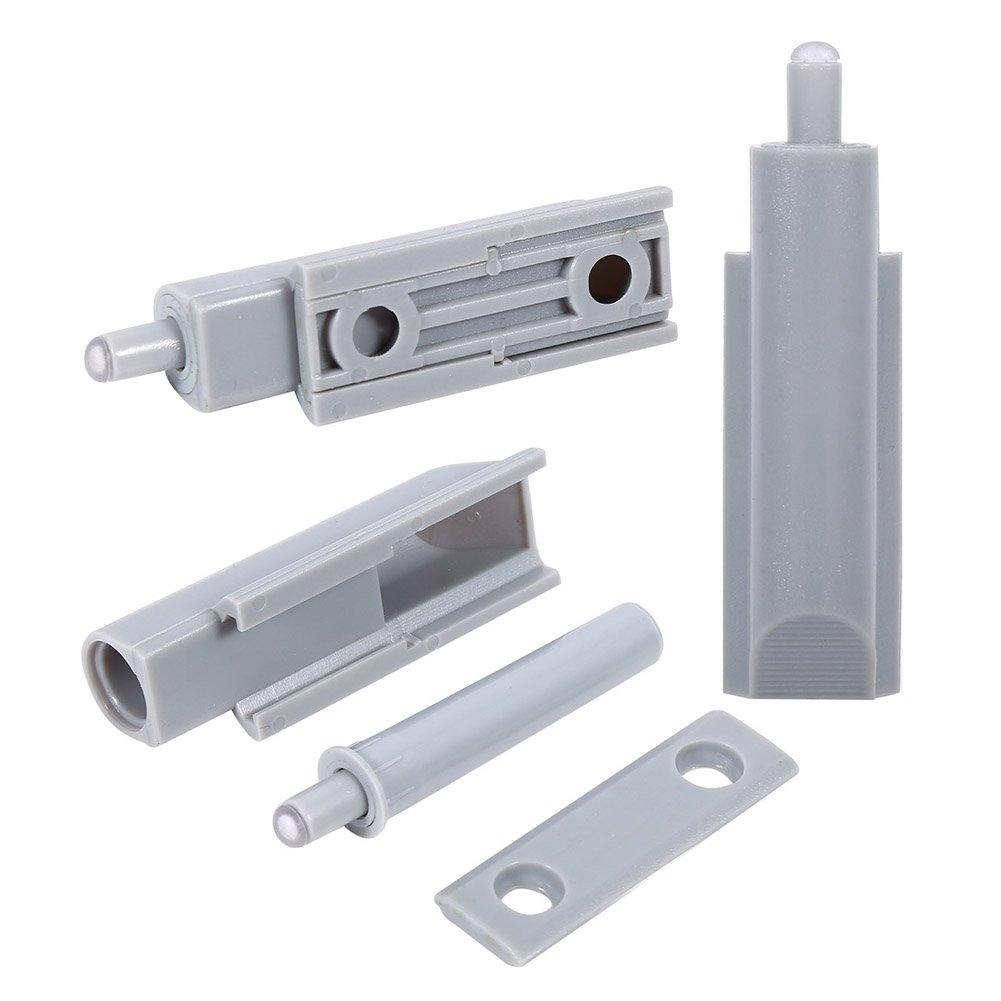 20 Piezas Cocina Pist/ón amortiguador para puerta de mueble Sistema push ABS Bisagra de Caj/ón de Gabinete Amortiguador de puerta
