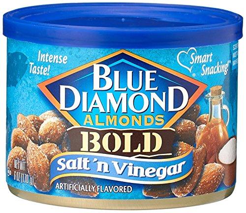 (Blue Diamond Salt & Vinegar Almonds, Bold Tins, 6 oz, 3 Pack)