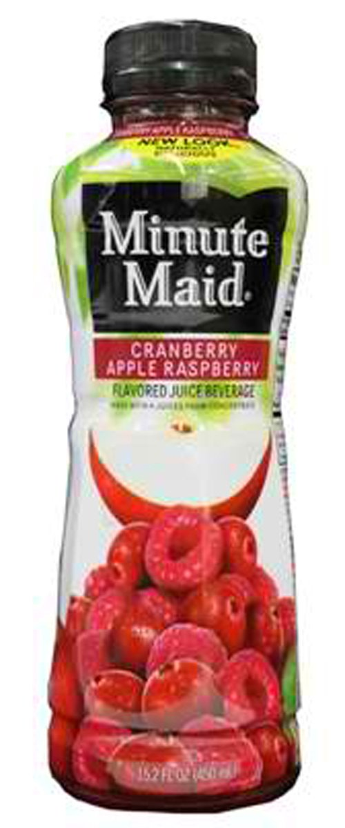Minute Maid Cranberry Apple Raspberry Juice 12 oz Plastic Bottles - Pack of 24