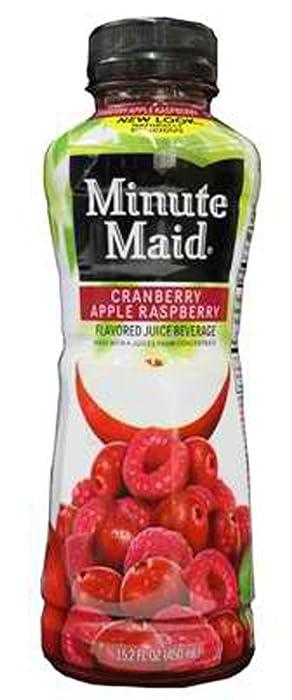 Minute Maid Cranberry Apple Raspberry Juice 12 oz Plastic Bottles - Pack of 24
