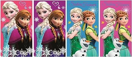Frozen la Reina de Hielo – Juego de 4 toallas de mano infantil (35 x