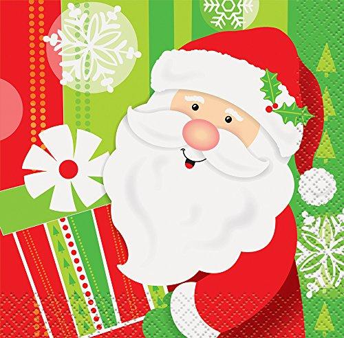 Happy Santa Christmas Beverage Napkins, 16ct