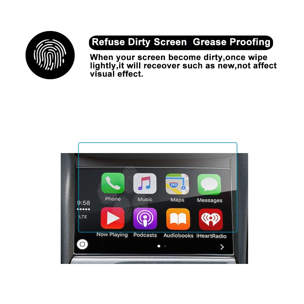 RUIYA 2017 Chevrolet Impala SILVERADO 1500 2500HD 3500HD 8-Inch Car  Navigation Protective Film,Clear Tempered Glass HD and Protect your Eyes