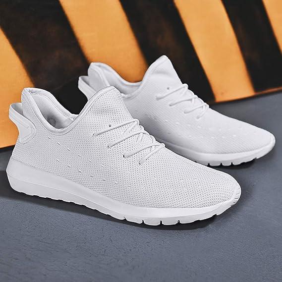 Zapatillas de Deporte Hombres,BBestseller Hombres zapatos de malla al aire libre cordones casuales hasta soles cómodos corriendo zapatos deportivos: ...