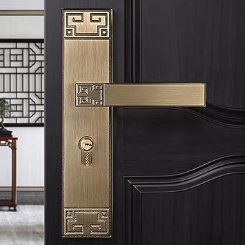 Cerradura de puerta de habitación Cerradura de puerta de hotel Durable Cerradura de puerta mecánica Conjunto de aleación de zinc Cerraduras de hardware: ...