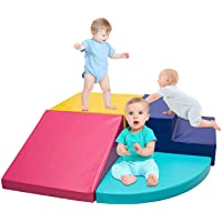 Go Beyond Softscape Crawl and Climb Foam Play Set, 4 Piece Lightweight Blocks Corner Climber, Nugget Couch for Toddlers…