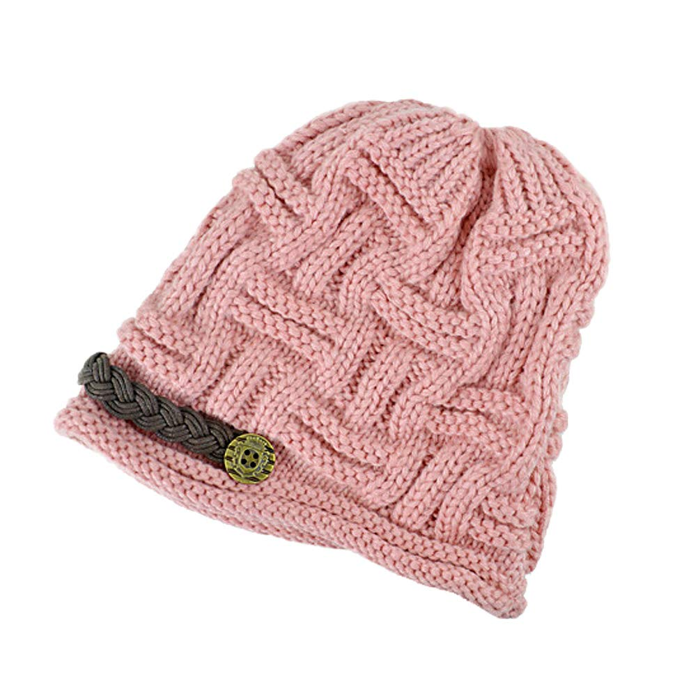 2416ee1d707 IvyFlair Women s Dual Layer Soft Warm Fleece Lined Basket Weave Knit Beanie  Hat