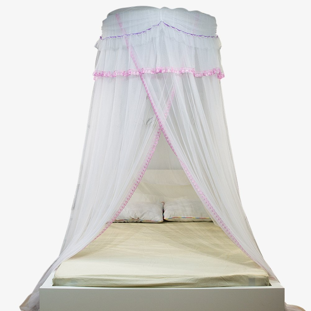 Palace Fine,Ceiling Dome Nets/Simple Floor Type,Princess Wind Encryption Plus Mosquito Nets/European-style Double Bed,Single Bed Nets-A C by fdgg