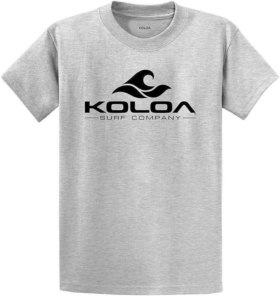 Koloa Surf Classic Wave Logo Cotton T-Shirt 3X-Large Tall-3XLT,Ash//b