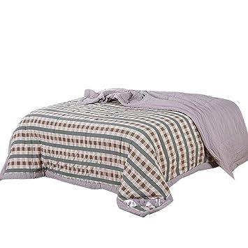 Amazon.com: HONGNA - Colcha fina de algodón lavado, cuadrada ...
