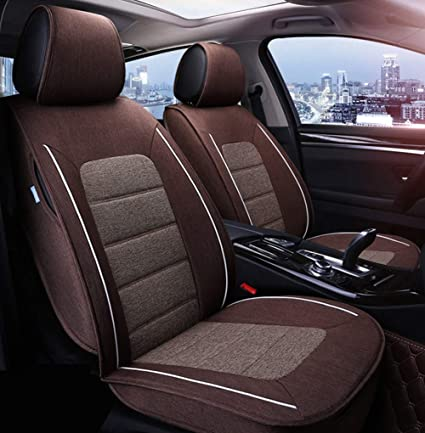amazon com yuye luxury flax linen car seat cover super breathable