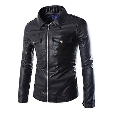 Prim leather Mens Lambskin Leather Bomber Biker Jacket