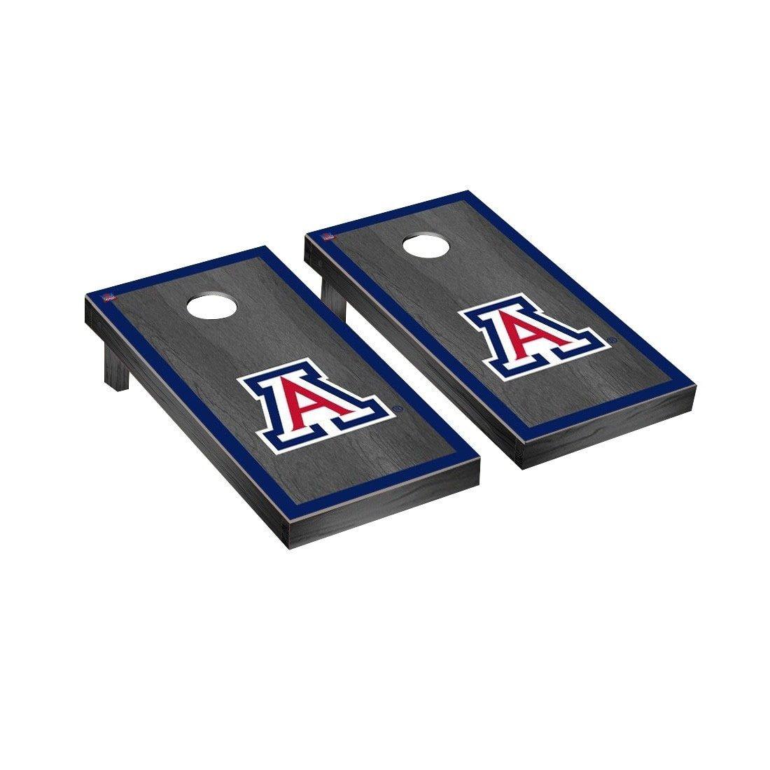 NCAA Cornhole Game Set Color: Onyx, NCAA Team: Arizona Wildcats