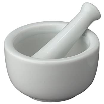 HIC Fine-Quality Porcelain Mortar and Pestle Set