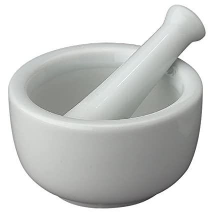 amazon com hic mortar and pestle spice herb grinder pill crusher