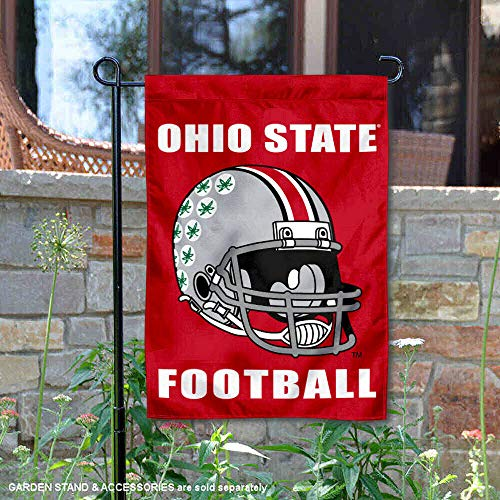 College Flags and Banners Co. Ohio State University Football Helmet Garden Flag