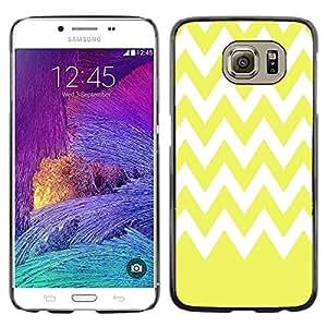 Dragon Case - FOR Samsung Galaxy S6 - Yellow with white waves - Caja protectora de pl??stico duro de la cubierta Dise?¡Ào Slim Fit