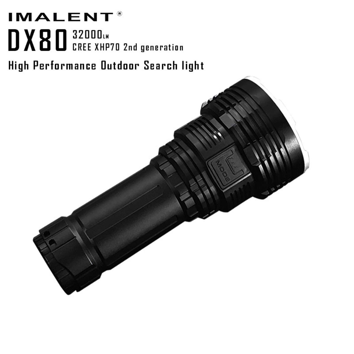 JUN GUANG Super Bright IMALENT DX80 32000LM LED Outdoor Searchlight Torch 806 Meter, Suche und Rettung LED-Flashlights Built-in Batterie