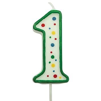 Amazon.com: PME - Vela grande numeral número 1 para tartas ...